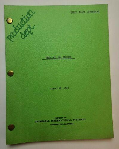 SEND ME NO FLOWERS / Julius J. Epstein 1963 Screenplay, Rock Hudson & Doris Day