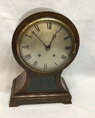 Antique WINTERHALDER & W & H Balloon TING TANG Mahogany Bracket Mantel Clock