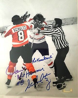 Philadelphia Flyers Dave The Hammer Schultz Autographed Photo The Punch