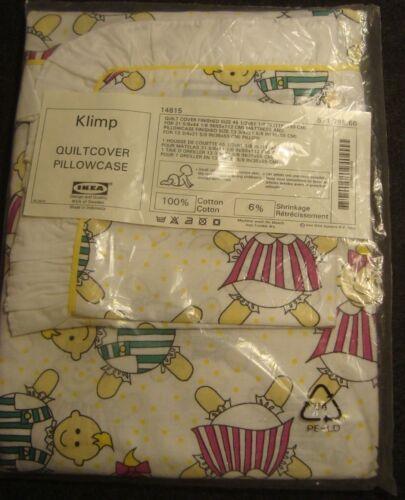 IKEA Crib Duvet Quilt Cover w/ pillowcase KLIMP Baby Nursery Dolls Retired Rare