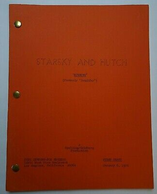 STARSKY AND HUTCH / Michael Fisher 1976 TV Script, David Soul