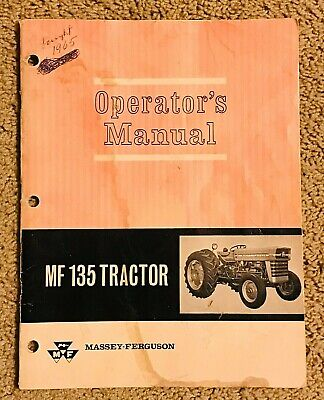 Original Massey Ferguson Mf 135 Tractor Operators Manual