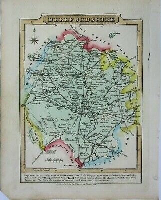 Antique map of Herefordshire by William Lewis 1819