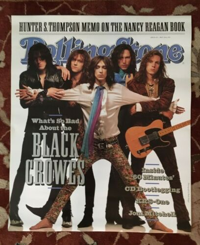 THE BLACK CROWES  1991 Rolling Stone Cover  rare original promotional poster