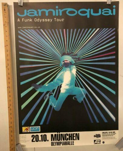 Jamiroquai A Funk Odyssey Tour Poster 2001 Classic Rock Legends Canned Heat
