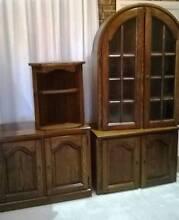 Belgium Oak Display Unit/ Cabinet/ TV Unit Woodbine Campbelltown Area Preview