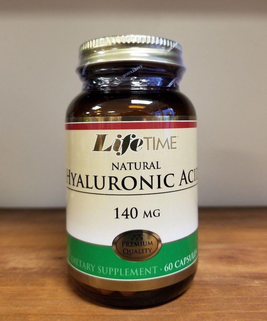 LifeTime Hyaluronic Acid 140 mg 60 Capsules