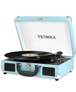 Victrola Vintage 3 Speed Bluetooth Suitcase Turntable + Speakers