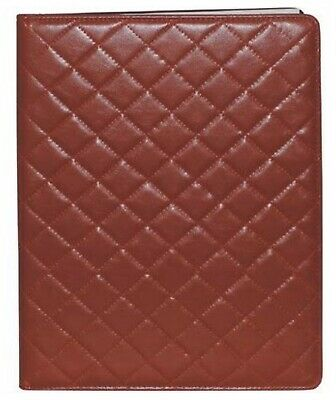 Buxton Faux Leather Quilted Portfolio Padfolio Letter Writing Pad Red