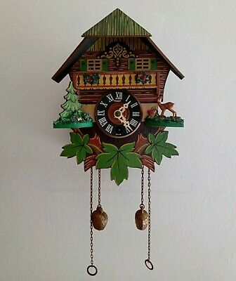 Genuine Vintage 1960's - Wind - Up Clockwork Swiss Cuckoo Clock