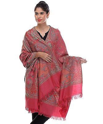 "Pink Paisley Fashion Wool Shawl Ladies Evening Dress Wrap Afghan Big Scarf 80"""