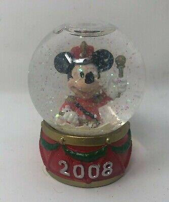 Disney Christmas Mini Snowglobe 2008 JC Penney Mickey Mouse Snow Globe