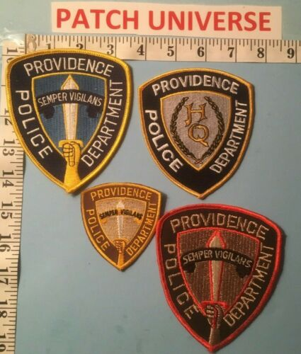 LOT OF 4 DIFFERENT PROVIDENCE RI POLICE SHOULDER PATCHES  N011