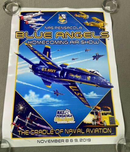 2019 US Navy Blue Angels Home Coming Pensacola Airshow Poster