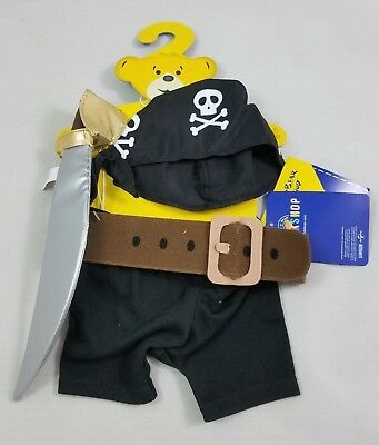 Build A Bear Minions Pirate Outfit Full Size Stuffed Animal BABW Movie - Build A Bear Pirate Outfit