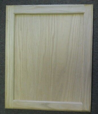 - 11 1/2 X 28 UNFINISHED OAK FLAT PANEL DOOR PAINT GRADE KITCHEN CABINET CUPBOARD