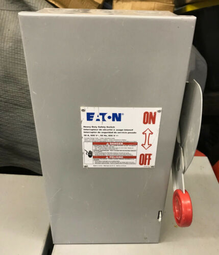 DH261NGK2 Cutler Hammer  30 Amp 600V 2 Pole 3 Wire Fusible Disconnect Switch