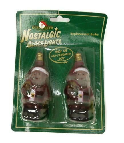 Kurt S. Adler Nostalgic Glass Lights Santa Replacement Bulbs - New in Package