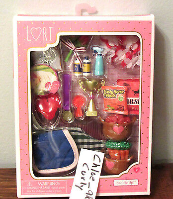 Lori Doll Saddle Up Horse Food Feed Blankets Trophy Accessories 6  New