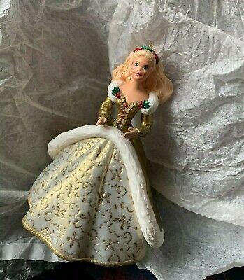 Hallmark Keepsake Ornament Holiday Barbie 1994 #2 Gold Christmas Decor, Xmas
