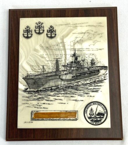 Vintage USS Mount Whitney LCC-20 Chiefs Mess Plaque