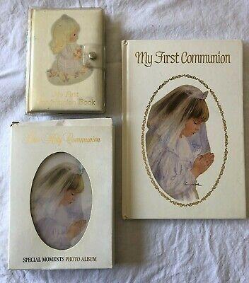 3 First Communion Books - Guest Book - Photo Album - Precious Moments