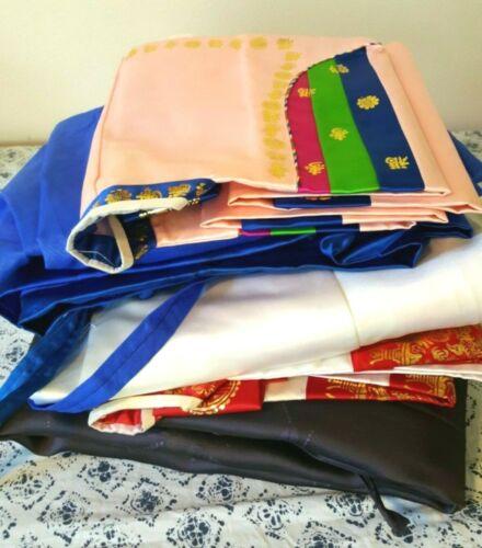 Korean Hanbok Dresses LOT OF 3 Pink White Blue Women