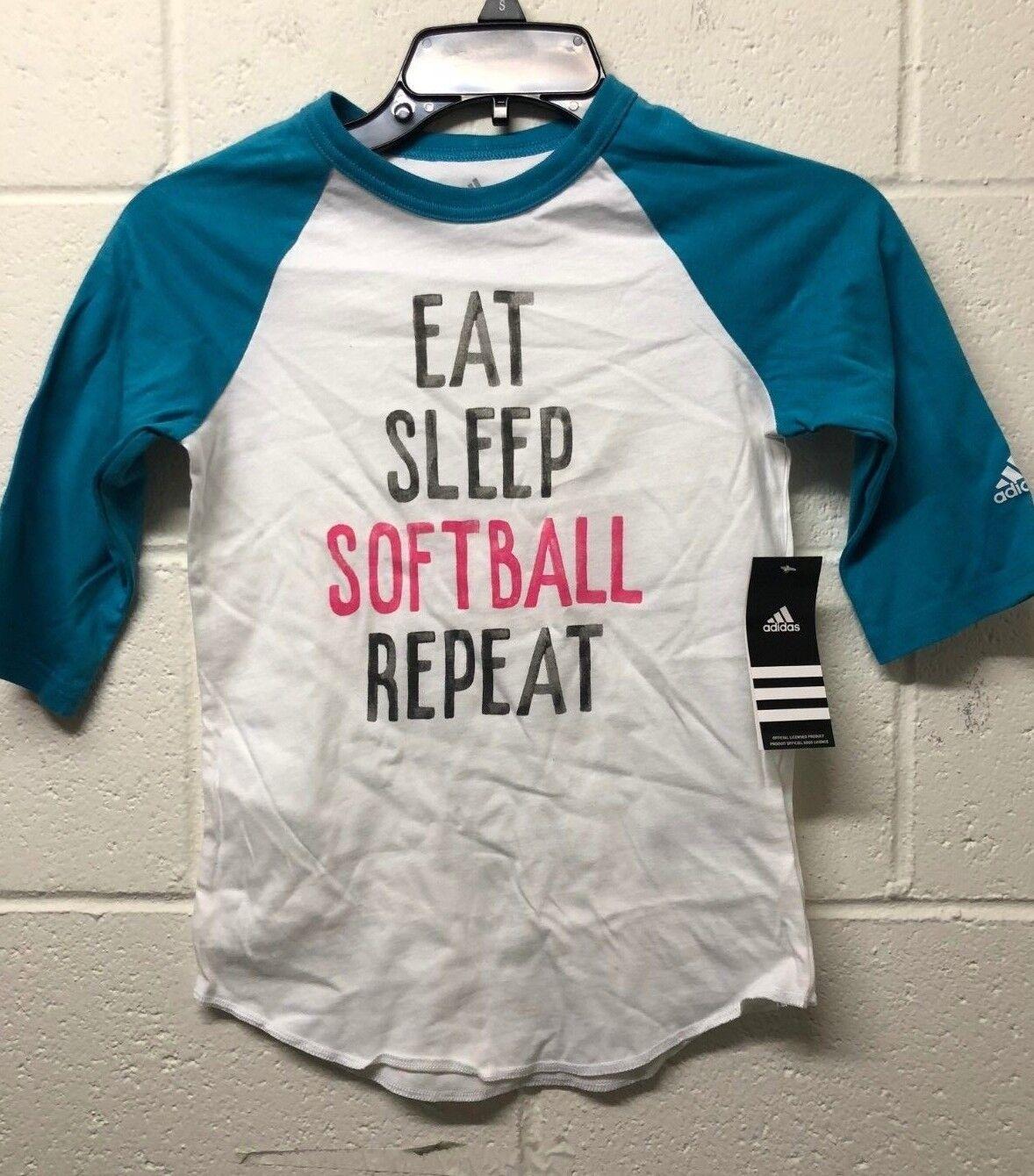NWT adidas Girls' Train Like a Girl Destiny Sleeve Shirt Tea
