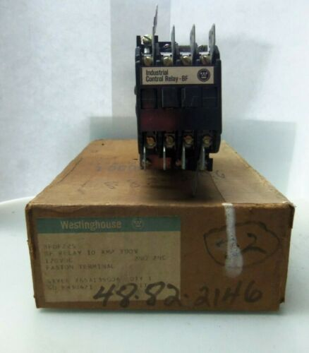 NEW WESTINGHOUSE CUTLER HAMMER BFDF22S CONTROL RELAY 4P 300VDC COIL NIB