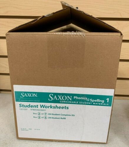 Saxon Phonics & Spelling 1 24-Student Worksheets & Assessments BOX #2 ONLY