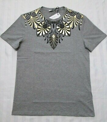 VERSACE COLLECTION Mens EGYPTIAN PRINT Short-Sleeve T-Shirt V800683S VJ00489