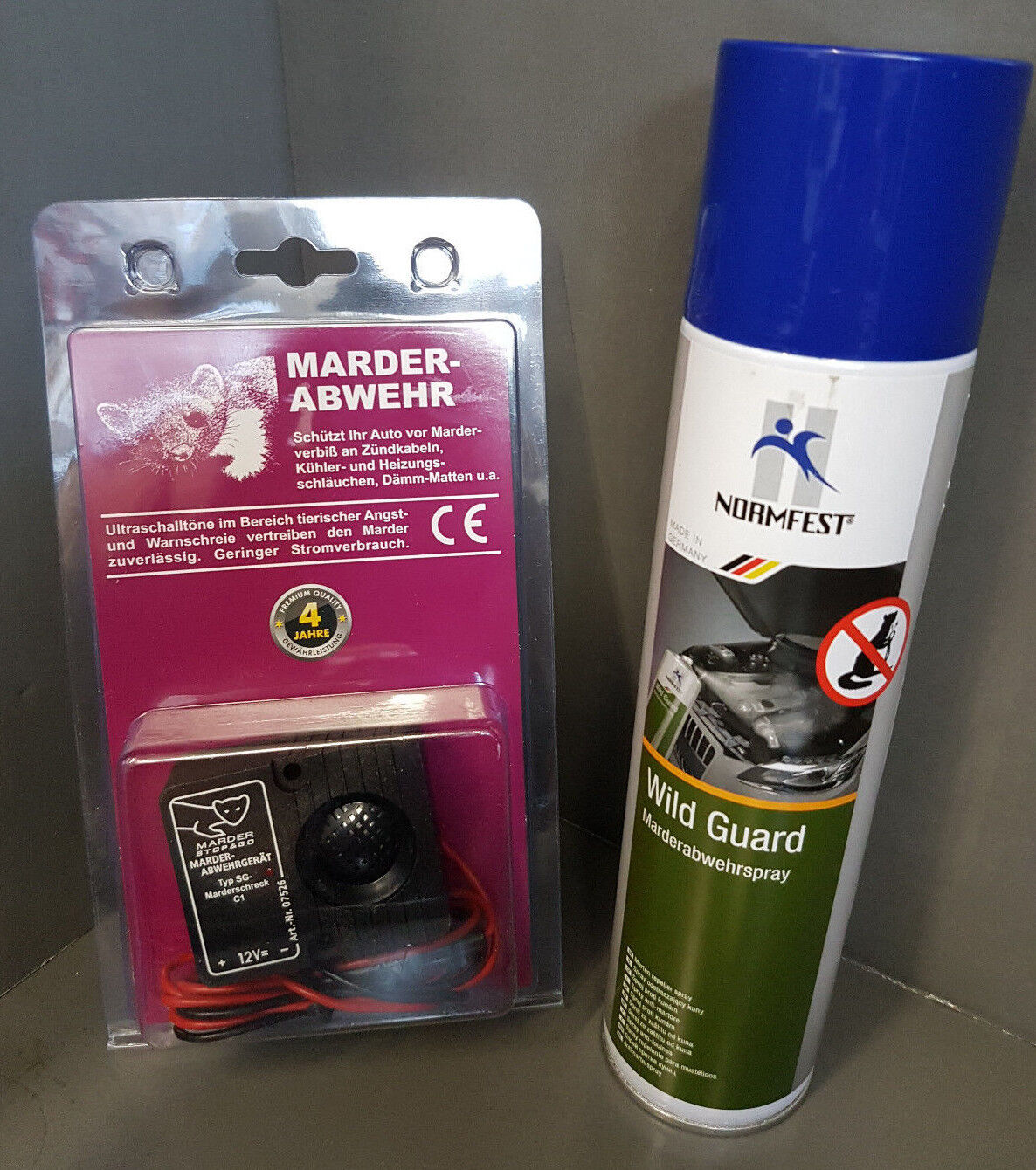 1x FERMATA & GO Spaventa martora+Martora repellente spray Normfest Wildguard