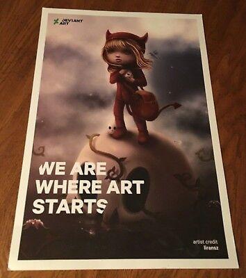 Deviantart Print Devil Girl Halloween Liransz Liran Szeiman Poster Nycc 2017