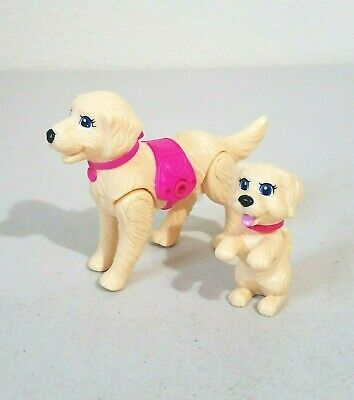 Barbie Strollin' Pups Taffy & Puppy Dog with Bobble Head Toy Figures