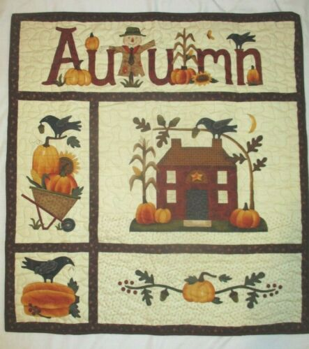 "Hand Made Art Quilt / Wall Hanging   ""Fall ""  ~32"" x 34"""