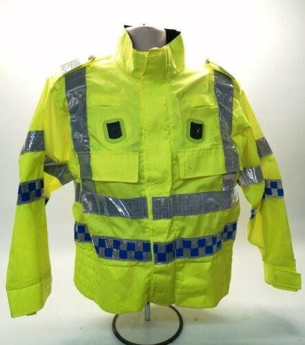Ex Police Hi Vis Bomber Jacket Lightweight Safety Steward Security Motorbike