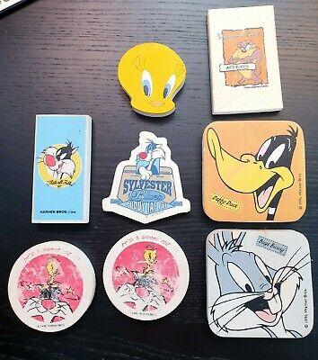Vintage bundle lot of 8 Vintage Looney Tunes Erasers Eraser Tweety Bugs Taz