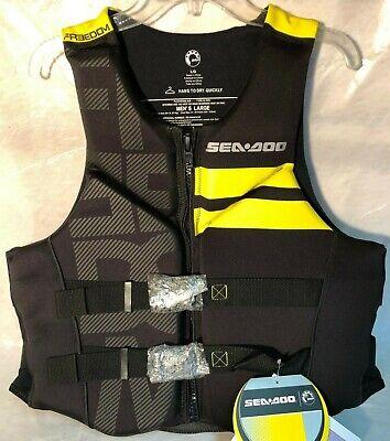 New LARGE Sea-Doo YELLOW Freedom Life Jacket 2867610910 (FREE SHIPPING)