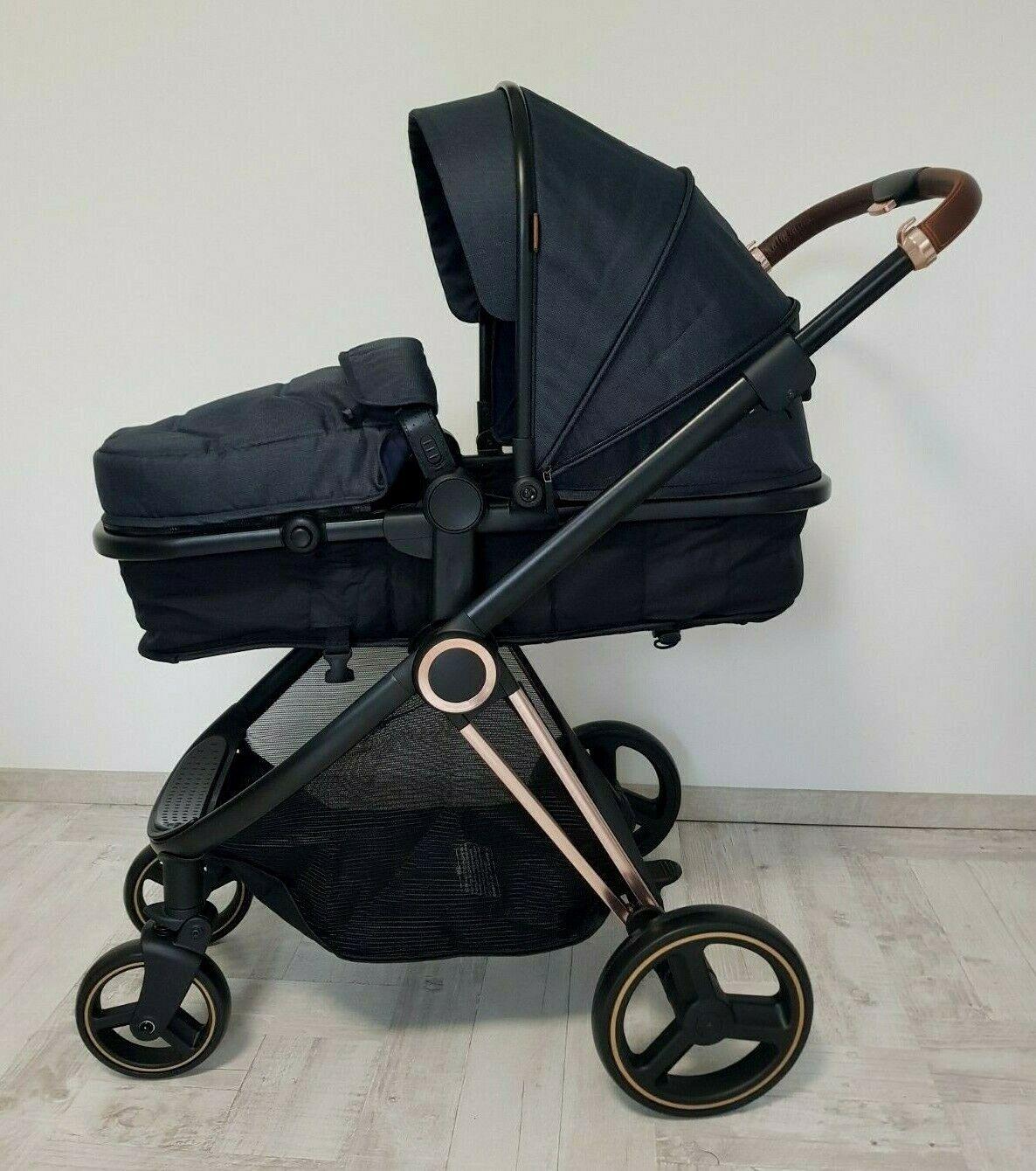 Premium Kinderwagen Trally 3in1 Kombi Komplettset Babywanne & Autositz Alu Neu