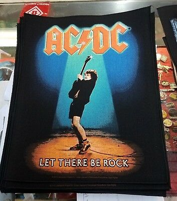 AC/DC ANGUS BACK PATCH NEW RARE COLLECTABLE WOVEN ENGLISH IMPORT BACKPATCH