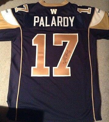 Winnipeg Blue Bomber Jersey Justin Palardy #17 Signed