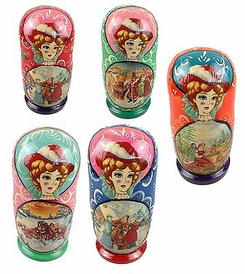 Matroschka Matryoshka 19 cm 7 Pieces Handicraft Russian Doll Babushka