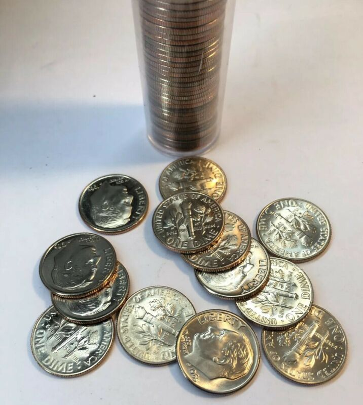 🇺🇸 UNC 1965 SMS ROOSEVELT DIME SALE $1 EACH COIN + FREE SHIPPING!