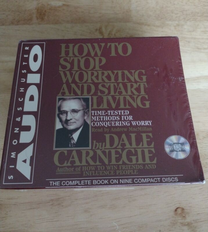 How To Stop Worrying And Start Living by Dale Carnegie 9-CD Box Set NEW/SEALED
