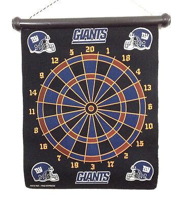 - NFL NY Giants Magnetic Hanging Team Dart Board 6 Darts Set Man Cave Dartboard