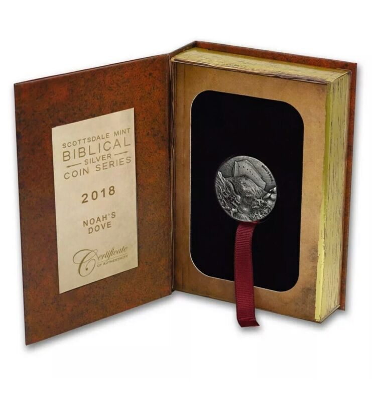 2018 Scottsdale Mint Biblical Series 2OZ Silver Noah