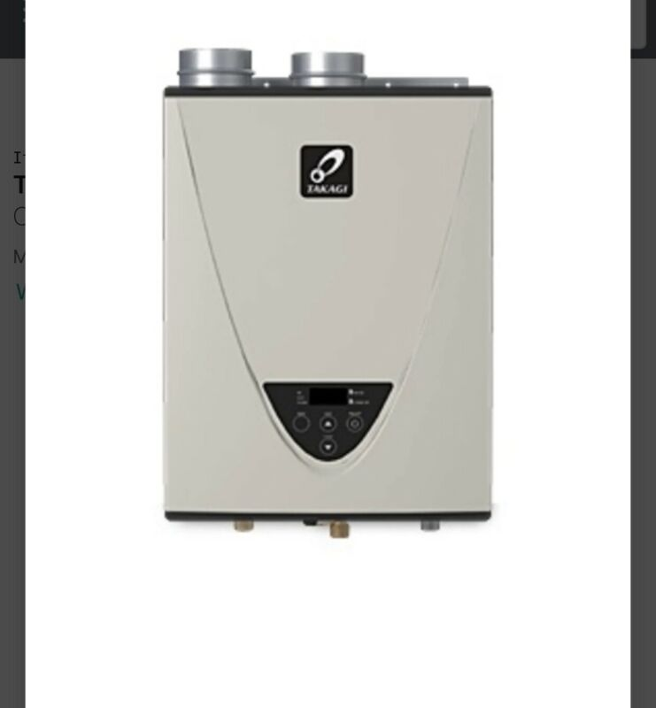 Takagi 199000 BTU Energy Star Rated Liquid Propane Condensing Tankless Water H