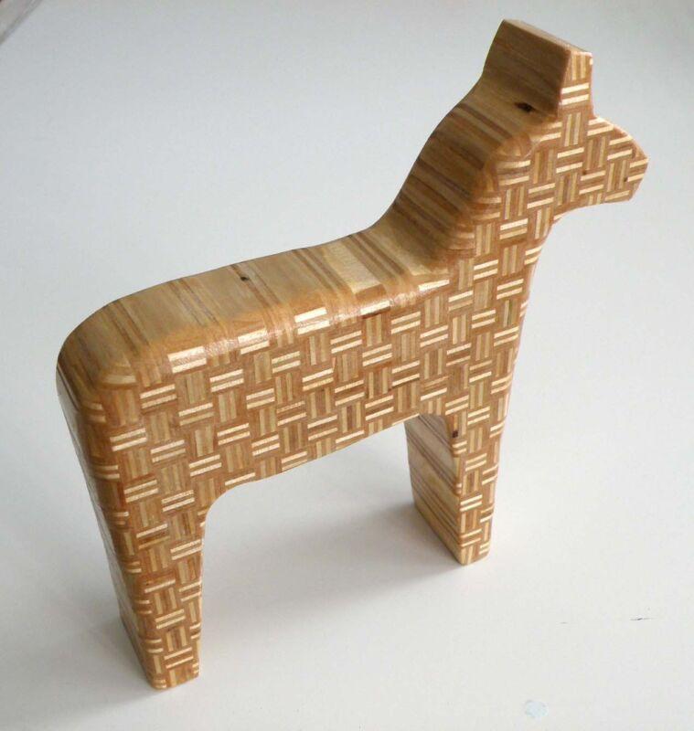 Amazing 170 mm horse plywood wood figure figurine, decor, statue interior design