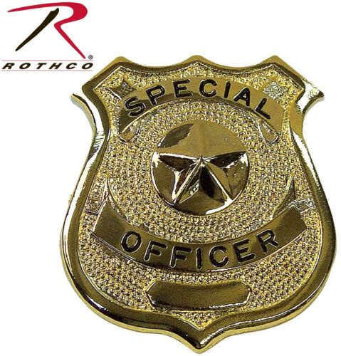 Gold Special Officer Shield Badge 1906 Rothco