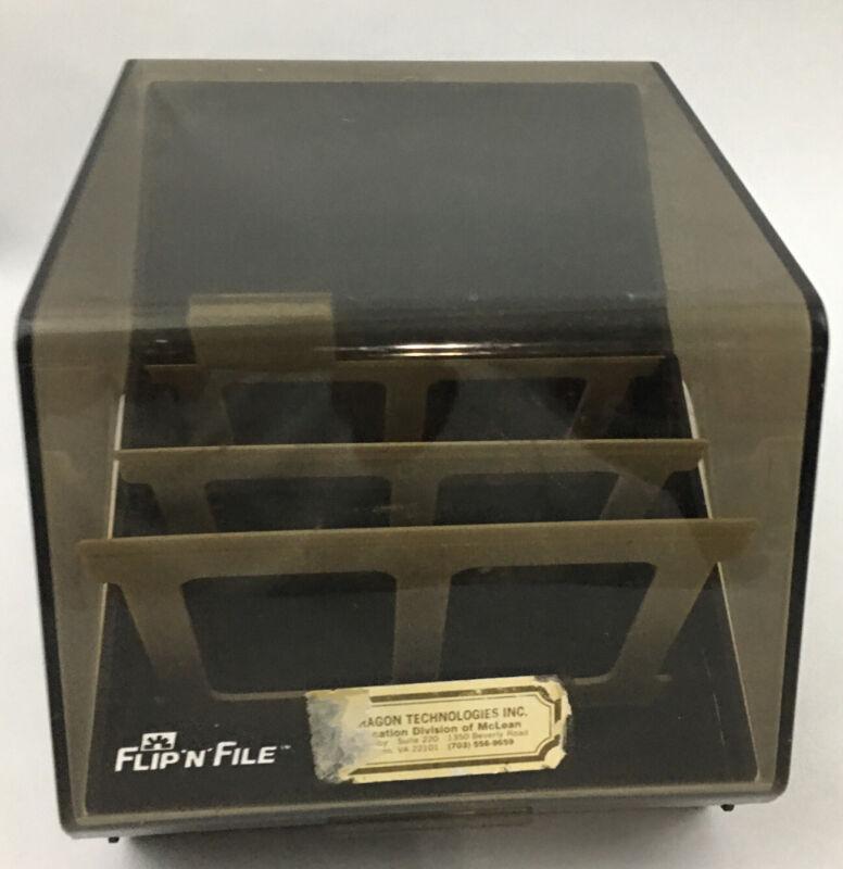 """Vintage Flip N File 5.25"""" Floppy Disc Holder"""